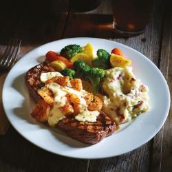 Shrimp & Parmesan Steak